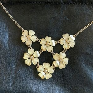 Gold + Flowers Statement Necklace